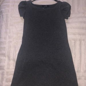 Grey mini dress with capped sleeves